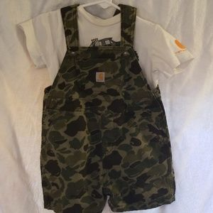 Carhartt Matching Sets - Carhartt overall coverall & onesie 2-piece outfit